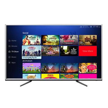 81b3e54e73d China 55inch AI Server Smart wifi 4K led tv android 8.1 function ...