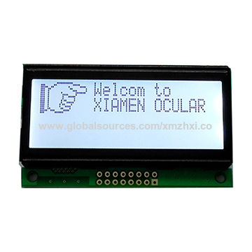 120*32 dots graphics LCD module with holographic polaroid