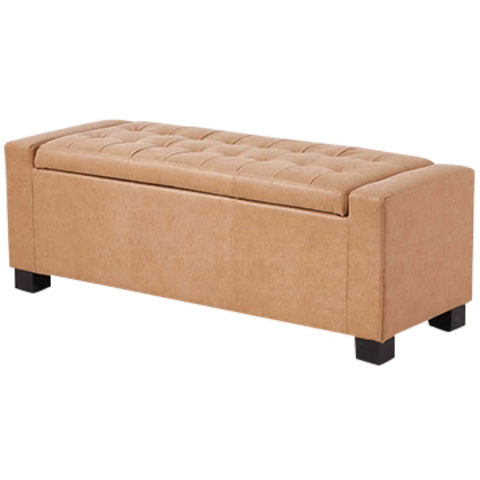 China Faux Leather Storage Ottoman, PU Leather (retro),with Pop Up Metal ...