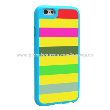 China Fabrics cover case with PC/TPU over mold for iPhone 6/6S, fits well with perfect protection