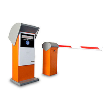 Smart Car Parking System, RFID Card Barcode Ticket Entrance Controller Box, Automatic Barrier