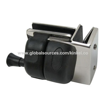 Stainless steel glass gate latch