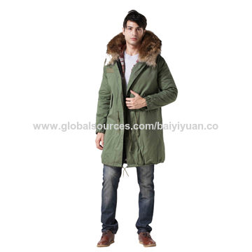 China Fashion men's winter animal fur coat, classic striped, manufacturer factory