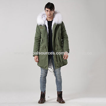 China Fashion men's winter faux fur collar coat, OEM orders are accepted