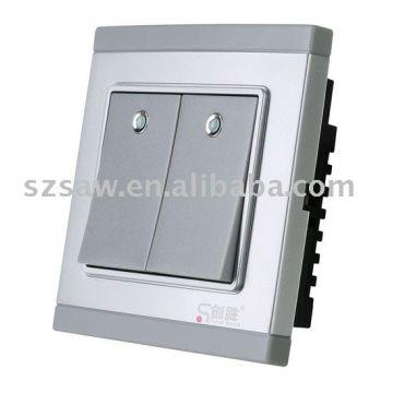 China Wireless switches - 2-gang Single-wire Rf Wireless Switch, Smart Switch, Remote Control Switch, P