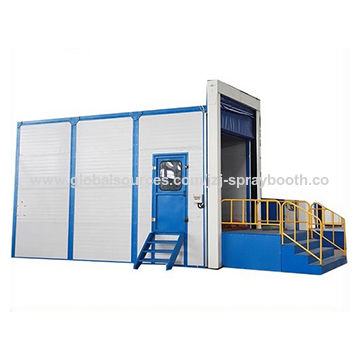 Container surface treatment sand blasting room on global for Surface container