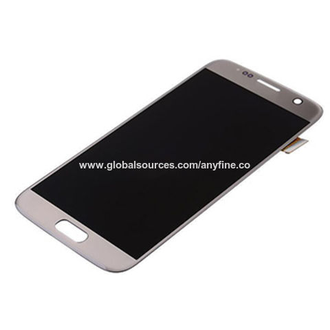 China Gold color mobile phone LCD screen for Samsung galaxy s7