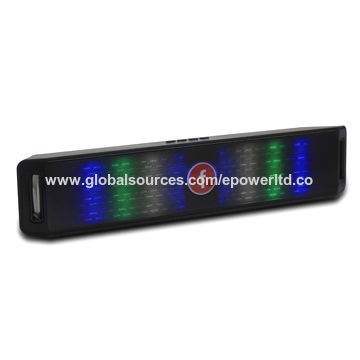 China LED Flashing Light Bluetooth Speaker, Aux in,Strip Shape,Handsfree