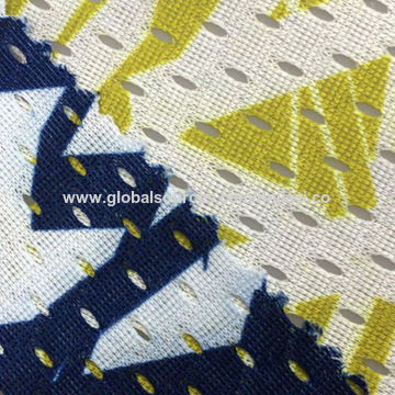 China Dri fit DTY printed mesh fabric for jerseys lining