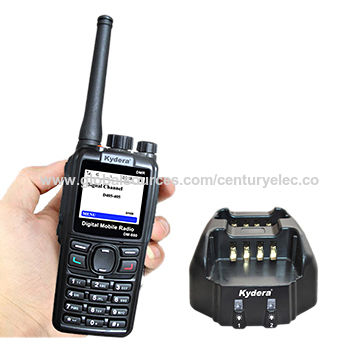 China DMR handheld walkie talkie with 16 zones and 512 channels