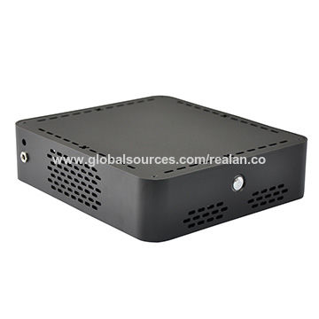 China Mini HTPC Cases, Wire Drawing Black, Aluminum 3.5mm, Supports 2 x 2.5-inch HDD