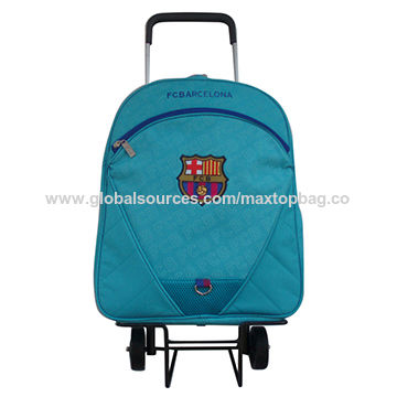 China Rolling Boy Trolley School Bag Backpack Kids With Removable Wheels