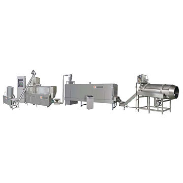 Wet method dog food extruder machine
