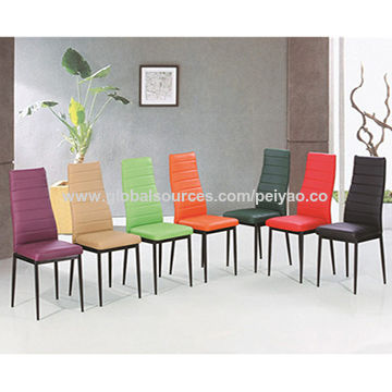 China Dining chair, PU seat and back
