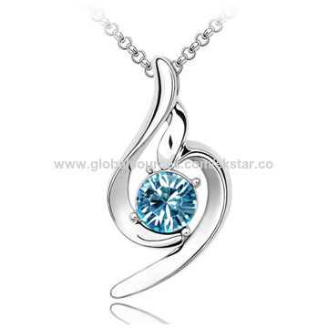 Fashionable Design Platinum-plated for Women's Austria Crystal Necklaces