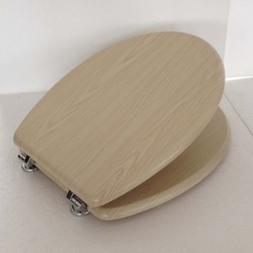 China MDF Wooden Toilet Seat Cover with Wood Pattern