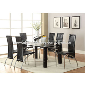 China Cheap glass dining table set modern,high quality