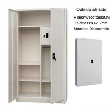 China Steel Storage File Amd Clothes Cabinet With Safe Box Inside For  Living Room Furniture