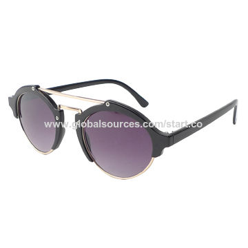 Sunglasses with plastic frame, UV 400 lens, OEM orders are welcome, CE, FDA approved