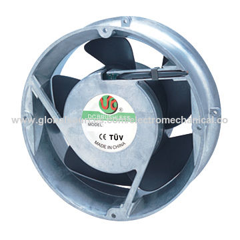 China 200mmx200mmx70mm Aluminum Housing Plastic Impeller DC Axial Fan