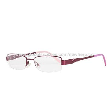 China Fashionable women\'s metal optical specs frames eyewear glasses ...