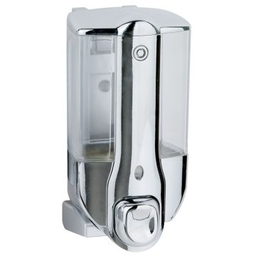 China Plastic Manual Single Soap Dispenser with Chrome Plated