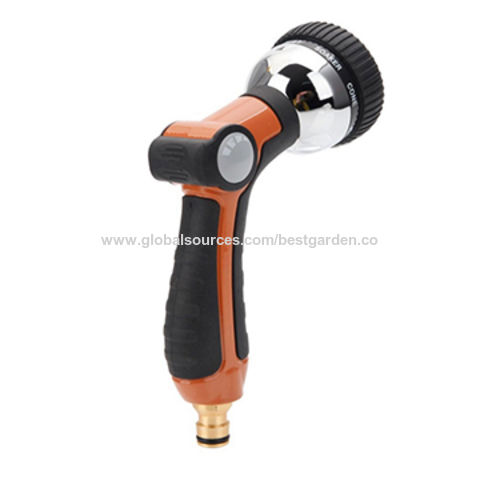 china 8 patterns garden hose nozzle sprayer heavy duty metal body have flow control - Best Garden Hose Nozzle