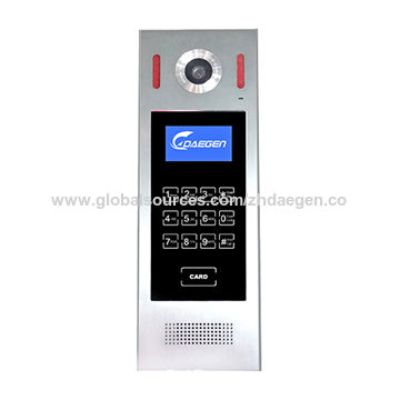 China GSM wireless video doorphones control by phone call or SMS