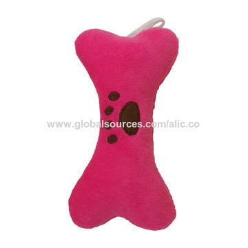 China Plush pet bone toy for dog chewing