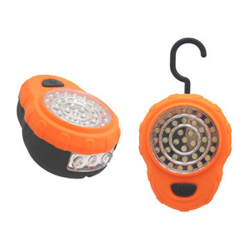 Hong Kong SAR Working Light with 39 LEDs, ABS Plastic Housing with Rubberised Inlay, Requires 5 x AAA Batteries