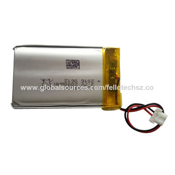 China Lithium battery cell, 3 7V/103454P, 2000mAh, for cell