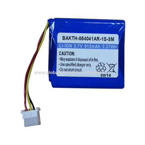 China BAKTH-054041AR-1S-3M 3.7V 910mAh Rechargeable Lithium-ion Battery