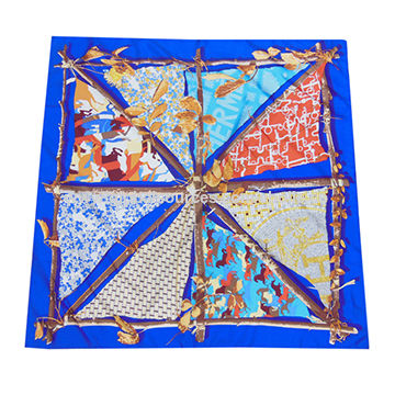 100% Twill Silk Scarf,Measure 90x90cm,Available in Various Designs