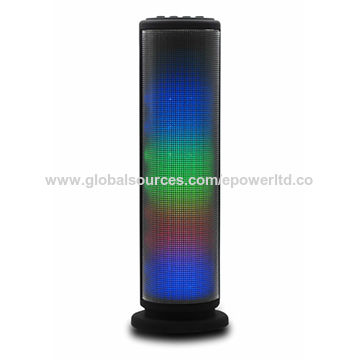 China Tower Long Cylinder-shaped/RGB/LED Flashing Light Bluetooth Speaker, Aux Line-in Audio TF Card