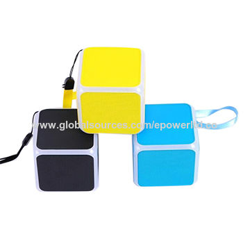 China Cube Bluetooth Speakers, LED Flashing, Rubber, Colorful, Rubber, Handsfree Calls