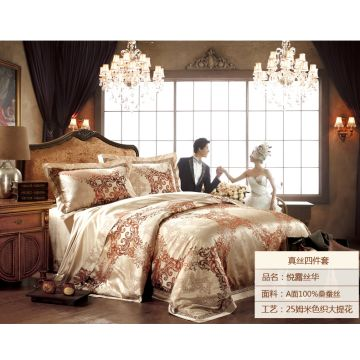 China 100% Jacquard Silk Bedding Set, Home And Hotel Use, Luxury 25mm OEM