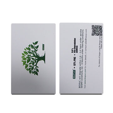 BioPVC Cards with RFID chip, 0.8 to 1.2mm Thickness