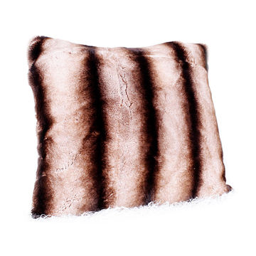 Comfortable And Soft Chinchilla Fur Rex Rabbit Fur Pillow Covers Adorable Rabbit Fur Pillow Cover