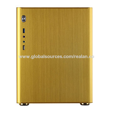 China Desktop Computer Case with Aluminum/2 x Wi-Fi/1 x COM/Standard ATX Power Supply/4 x PCI Slots