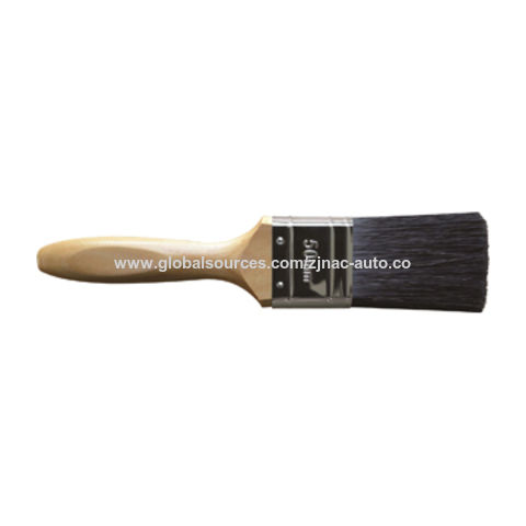 China Paintbrushes with pure bristle, synthetic SRT filaments, varnished wood handle