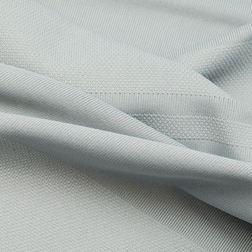 UV-Cut and Wicking Stripe Jersey Fabric Made of Full Dull Poly and Spandex