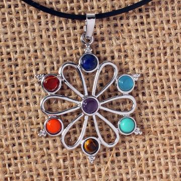 Seven chakras religious individuality creative Sanskrit pendant