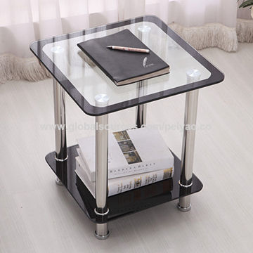 China Hot selling glass sofa side end table, wholesale price