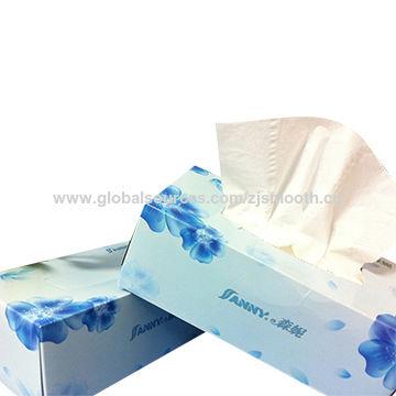 Long box packing facial tissue