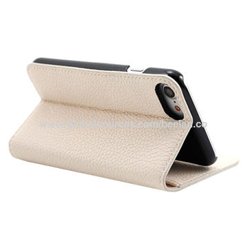 China Wallet PU Leather Case for iPhone 7 Plus, with Stand Function