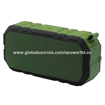 China IPX6 Rubber Water-resistant Bluetooth Speakers, Outdoor Sports/Hand Strap/Portable/Handsfree Calls