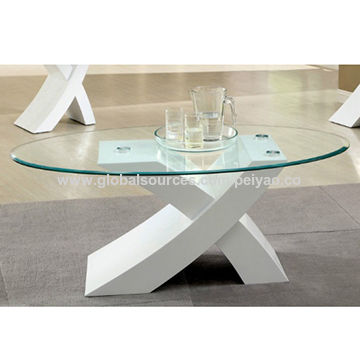 "China Modern designer white ""X"" high gloss coffee table"
