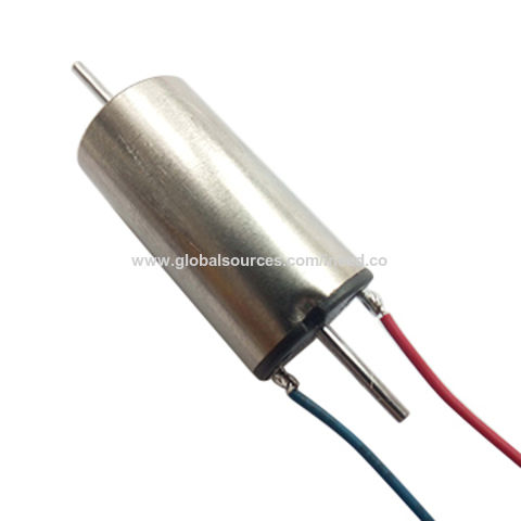12V DC double axis shaft coreless motor, 20mA current for train toys, 1020 motor