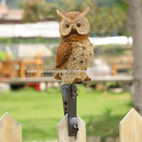 Lovely China Popular Resin Decorative Owl With Clamp Statue Fence And Garden Décor,OEM  Orders Welcoome ...