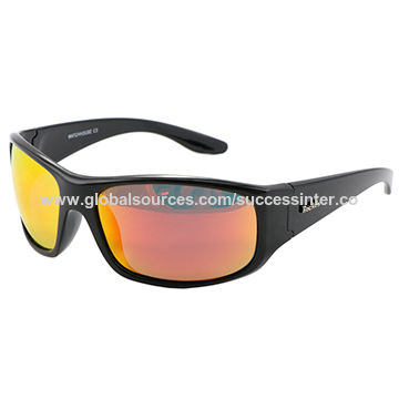 Latest Men's Sports Sunglass, Suit for Fishing Cycling Drive/Made of PC/UV 400 Protection